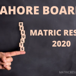BISE Lahore Matric Result 2020