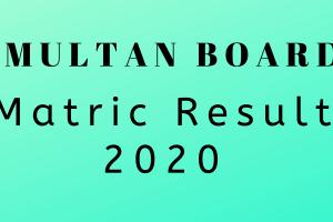BISE Multan Matric Result 2020 – Check Result Online