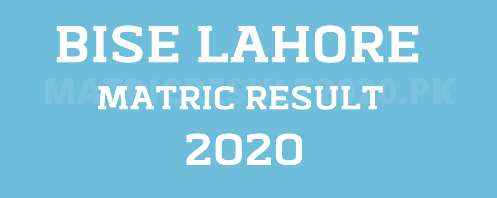 Lahore BOARD matric result