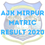AJK Mirpur Board Matric Result 2020 - Check Result Online