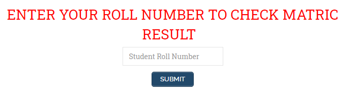 Check result by roll number